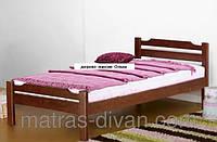 Кровать односпальная Ольга массив ольха