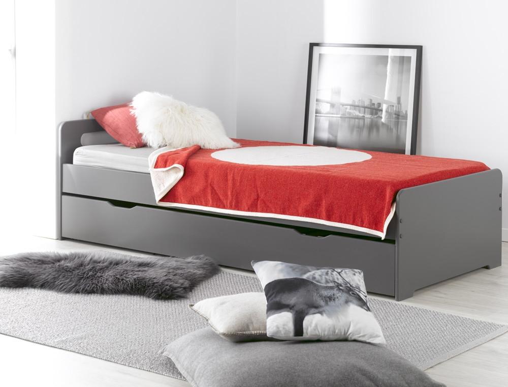 Кровать для подростка Junior Provence Lit Gigogne Feroe Ardoise