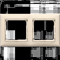 Рамка двойная горизонтальная кремовая Valena Legrand