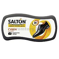 """Губка-блеск для обуви из гладкой кожи """"Волна"""" Salton чёрный"""
