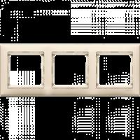 Рамка тройная горизонтальная кремовая Valena Legrand