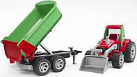 Трактор с погрузчиком и прицепом из серии Roadmax Bruder (20116)