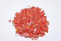 Дробленый пивной ящик из вторичного полиэтилена HDPE , аналог  ПНД 273, оранжевый