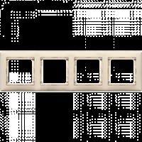 Рамка четвертная горизонтальная кремовая Valena Legrand