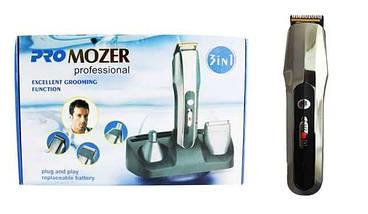 Стайлер ProMozer MZ7688, аккумулятор, насадки для бороды и окантовки,триммер для носа и ушей, фото 2