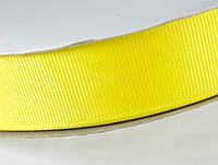 Лента репсовая 25мм 91м желтая ЛР25-0015
