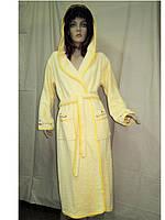 Женские махровые халаты длинные