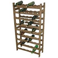Стеллаж для бутылок «Кантинетта», деревянный, на 54 бут.