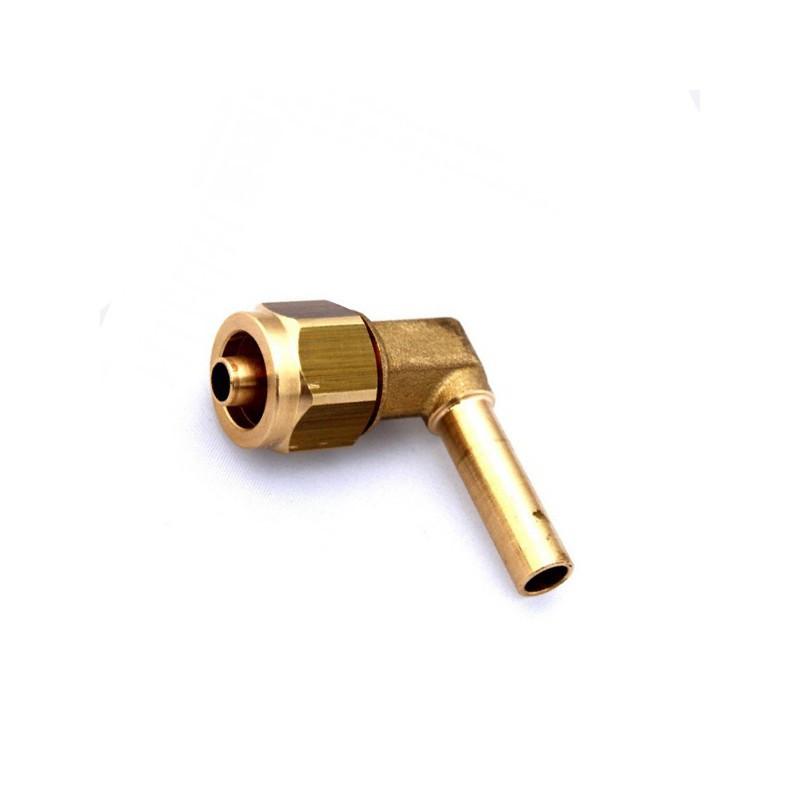Штуцер Faro соединительный 8-8 для термопластиковой трубки 90°