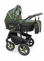 Детская универсальная коляска 3 в 1 Verdi Sonic 38, черный горох/зеленый