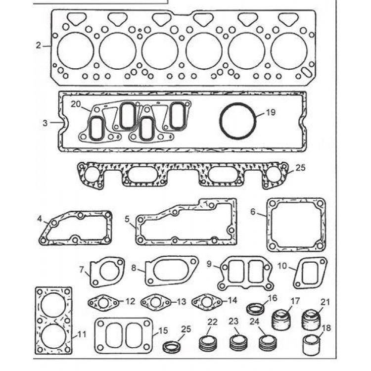 Комплект прокладок двигателя вверх PERKINS 1006.6 (U5LT1300)
