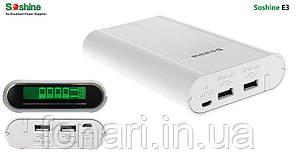Power Bank Soshine E3 Dual USB, 4х18650, ток 2.1A