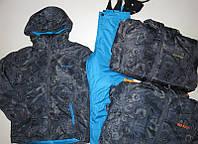 Лыжный костюм куртка + полукомбинезон   для мальчиков и девочек  134 /170 см