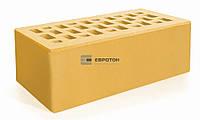 Кирпич лицевой керамический Евротон утолщенный желтый