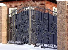 Ковані ворота з хвірткою, фото 3