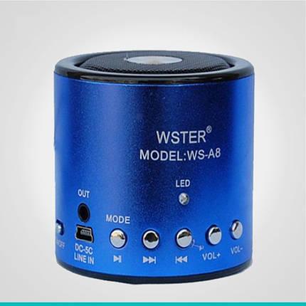 Портативная колонка WSTER WS-A8 3,5 мм, фото 2