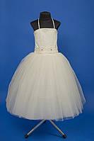 Белое нарядное свадебное платье