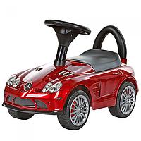 Каталка-толокар  М 3189 покраска бордо(Мягкие колеса)