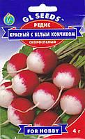 Семена редис Красный с белым кончиком  4 г