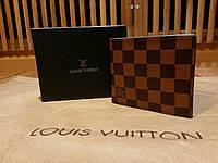 Кошелек Louis Vuitton коричневый в клетку в коробке, фото 1