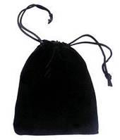 Мешочек для кубиков 12х9 см (чёрный) (Velvet dice bag 12х9 cm)
