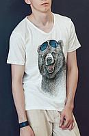 """Мужская футболка """"Медведь в очках"""""""