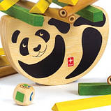 Дерев'яна іграшка-балансир з бамбука Hape Pandabo, фото 3