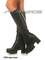 Женские натуральные кожаные сапоги