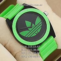 Красивые женские наручные часы Adidas Log 0927 Green\Black