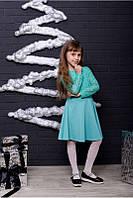 Стильное платье для девочки с гипюром