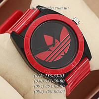 Удобные женские наручные часы Adidas Log 0927 Red\Black