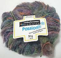 Нитки для вязания шерсть акрил пряжа Меланж фиолетовый