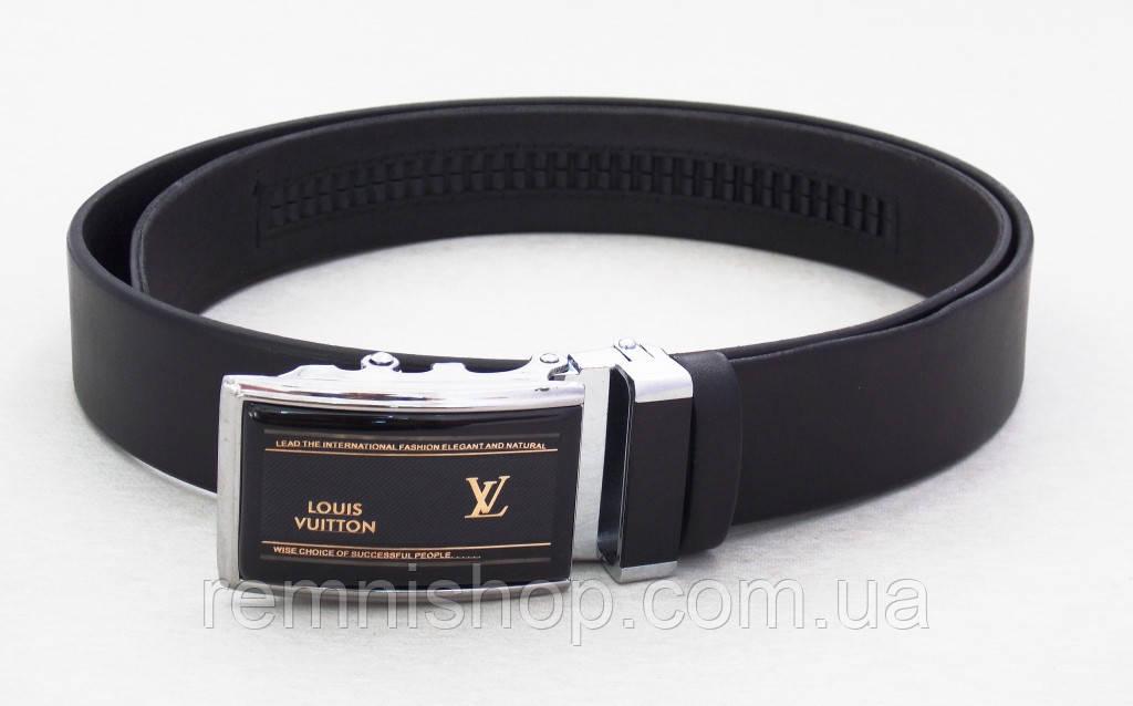 Мужской ремень-автомат кожаный Louis Vuitton