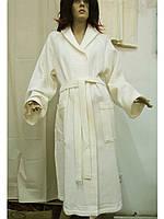 Халат вафельный женский 46-54 длинный Maison D'or
