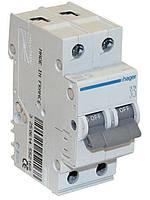 Автоматический выключатель Hager 2П 63А тип В MB263A