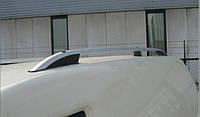 """Рейлинги Fiat Doblo 2010+, короткая база. Crown (тип skyport), сплошный алюминий, цвет """"Серый мат"""""""