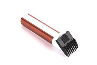 Бодигумер, триммер для бороды Gemei 698, съемный аккумулятор, регулируемая насадка, щетка для чистки. Триммер, фото 3