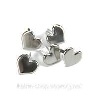 Брадсы Creative Impressions —  Heart, набор из 50 шт Серебро