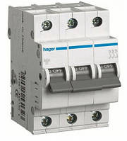 Автоматический выключатель Hager 3П 50А тип В MB350A