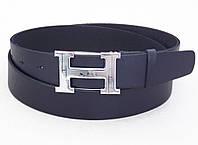 Кожаный ремень Hermes синий