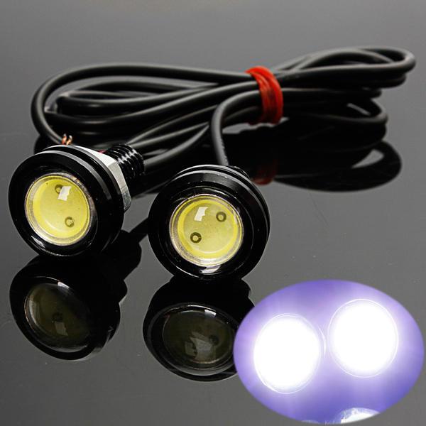 Врезная LED-лампа Линза Ксенон 2шт 23мм black (черный)