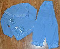 "Пижама для девочки ""Зайка"" р.86 86, Голубой"