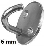 Нержавеющий крючок на круглом основании, 6 мм