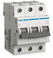 Автоматический выключатель Hager 3П 63А тип В MB363A
