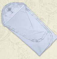 Крыжма для крещения Оксамит двойная с вышивкой велюр, кулир 75х80 см Белый / Молочный цвет Бетис