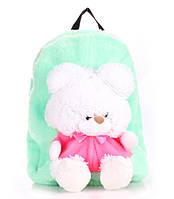 Рюкзак с медвежонком зеленый Рoolparty