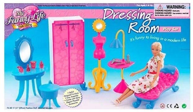 """Набор мебели """"Гардеробная"""" 2909, все необходимое для игры с куклой до 29 см"""