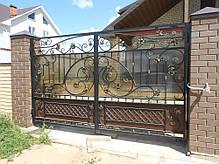 Ковані ворота з хвірткою, фото 2