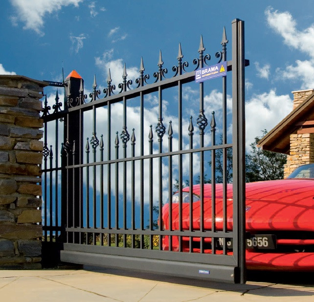 Ковані ворота з хвірткою