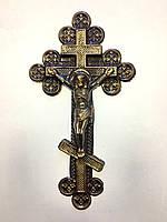 Крест ажурный с распятием 1.01, 50 шт/упак бронза